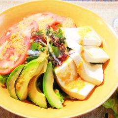 豆腐と海藻のサラダ ¥750(税抜)