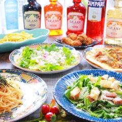 料理7品・2時間飲み放題付¥4500コース(税込)