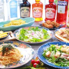 料理8品・2時間飲み放題付¥5500コース(税込)