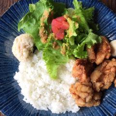 【ある日のワンプレートランチ】米粉の唐揚げ ¥850(税抜)