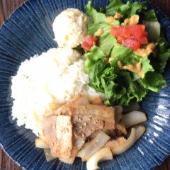 【ある日のワンプレートランチ】塩豚カルビ ¥850(税抜)