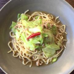 【ある日の生パスタランチ】キャベツと豚ひき肉の醤油ソース ¥900(税抜)